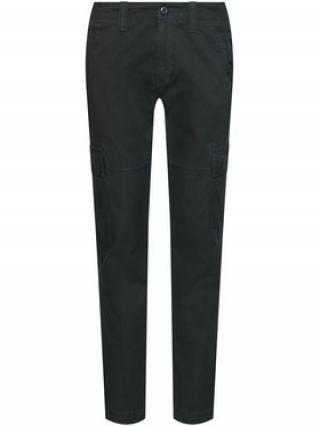 Superdry Kalhoty z materiálu Cargo M7010195A Černá Straight Fit pánské 30_32