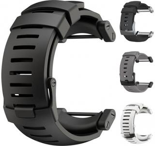 Suunto Silikonový řemínek k hodinkám Core černý s černou sponou