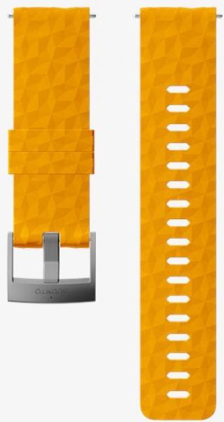 Suunto Silikonový řemínek k hodinkám Suunto 9, 9 Baro, Suunto 7 a Suunto Spartan Sport, Spartan Sport HR SS050012000 oranžový se stříbrnou sponou