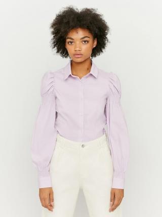 Světle fialová košile s nařasenými rukávy TALLY WEiJL dámské XL