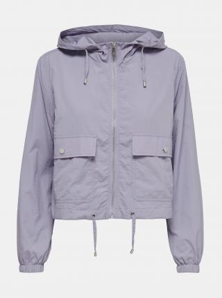 Světle fialová lehká bunda s kapucí Jacqueline de Yong Anni dámské XL
