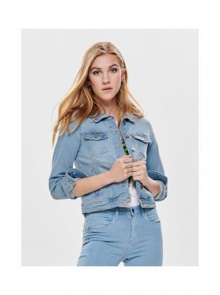 Světle modrá džínová bunda ONLY Tia dámské XL