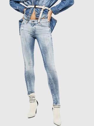 Světle modré dámské skinny fit džíny Diesel dámské světle modrá L