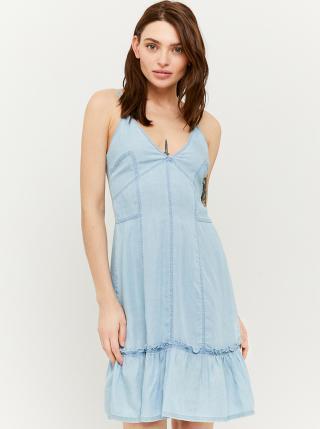 Světle modré džínové šaty na ramínka TALLY WEiJL dámské světle modrá S