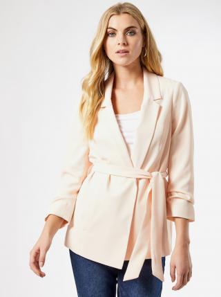 Světle růžové sako se zavazováním Dorothy Perkins dámské světle růžová L