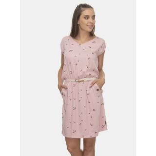 Světle růžové vzorované šaty Ragwear dámské světle růžová L