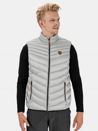 Světle šedá pánská prošívaná vesta SAM 73 Aaron pánské XL