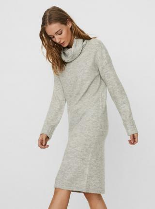 Světle šedé svetrové šaty VERO MODA Gaiva dámské světle šedá M