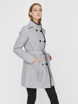 Světle šedý kabát VERO MODA Calaveronica dámské světle šedá M