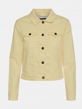 Světle žlutá džínová bunda Noisy May Debra dámské M