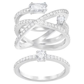 Swarovski Exkluzivní sada prstenů Gray 5272356 58 mm dámské