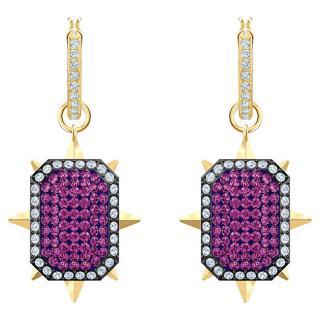 Swarovski Extravagantní pozlacené náušnice s krystaly 2v1 Tarot 5490915 dámské