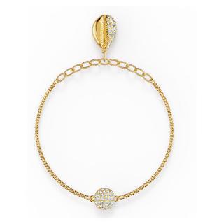 Swarovski Hravý pozlacený náramek s mušlí Shell 5538127, 5521347 18 cm dámské
