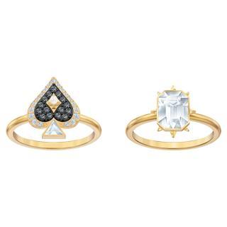 Swarovski Luxusní pozlacená sada prstenů s krystaly Tarot 55132 60 mm dámské