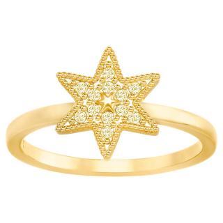 Swarovski Luxusní pozlacený prsten hvězda 5269948 55 mm dámské