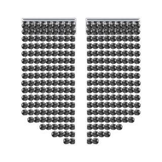 Swarovski Třpytivé náušnice s černými krystaly Swarovski 5385857 dámské