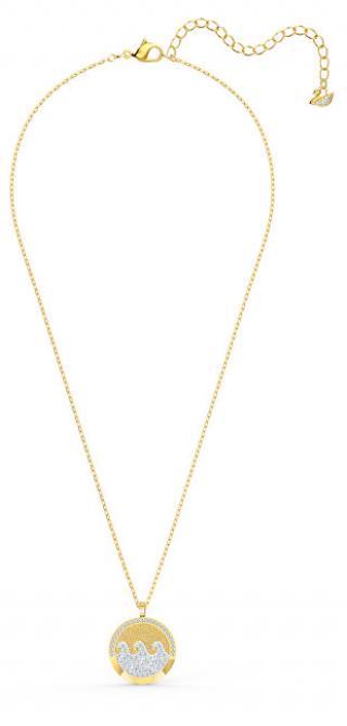Swarovski Zářivý pozlacený náhrdelník Vlny moře Shell 5538111