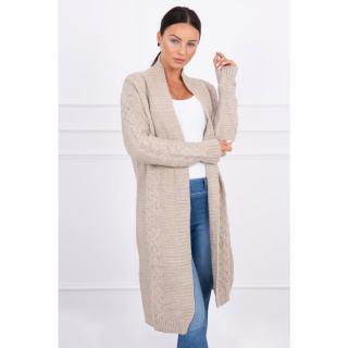 Sweater Cardigan weave the braid beige dámské Neurčeno One size