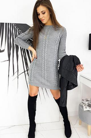 Sweater dress EMILY light gray EY1424 dámské Neurčeno One size
