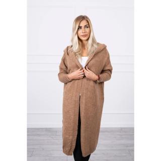Sweater with hood camel dámské Neurčeno One size