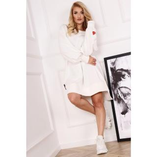 sweatshirt dress with puff sleeves dámské Other One size