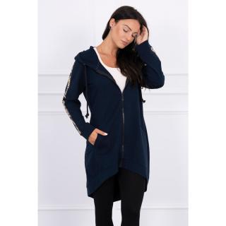 Sweatshirt with zip at the back navy blue dámské Neurčeno One size