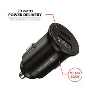 Swissten CL adaptér power delivery 20W iphone 12, černá