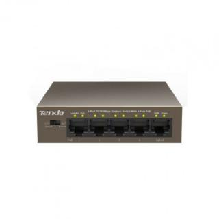 Switch switch tenda tef1105p-4-63w, poe, 5-port