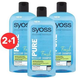 SYOSS Shampoo Pure Fresh 3× 500 ml