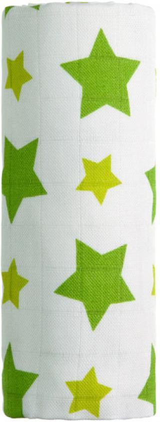 T-TOMI Bambusová osuška, 1 ks, zelené hvězdičky