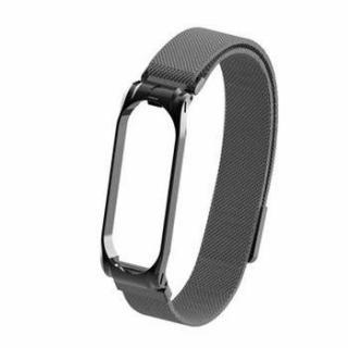 Tactical Loop magnetický kovový řemínek pro Xiaomi Mi Band 5 Black