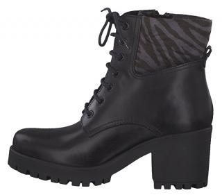 Tamaris Dámské kotníkové boty 1-1-25217-33-026 Black/Zebra 41 dámské