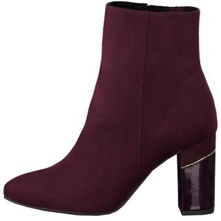 Tamaris Dámské kotníkové boty 1-1-25330-33-537 Merlot 39 dámské