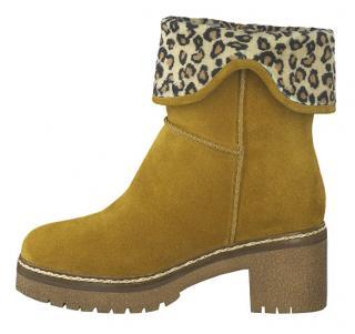 Tamaris Dámské kotníkové boty 1-1-26981-33-646 Curry 37 dámské