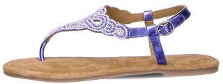 Tamaris Dámské kožené sandále 1-1-28153-24-831 Bleu Glam Comb 38 dámské