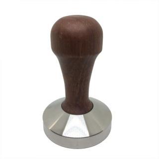 Tamper 51mm flat ořech