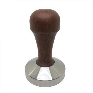 Tamper 53mm flat ořech