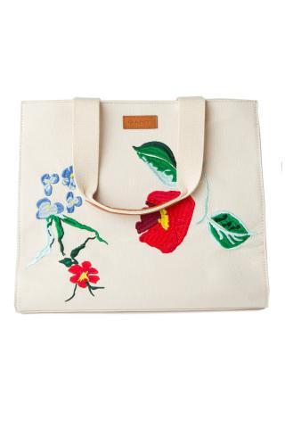 Taška Gant O2. Embroidery Tote Bag dámské bílá