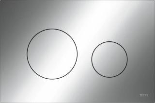 TECEloop plastové ovládací tlačítko, dvojčinné, lesklý chrom