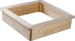 TEDDIES Dřevěné pískoviště, 4 sezení 80x80x20 cm hnědá
