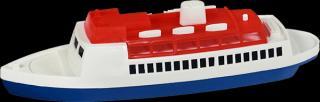 TEDDIES Loď/Člun - Parník oceánský plast 26 cm bílá