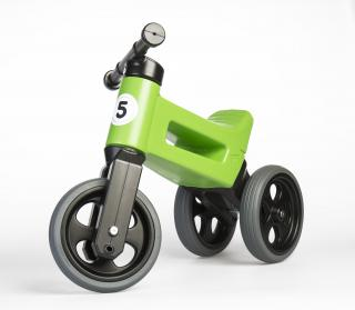 TEDDIES Odrážedlo zelené Funny Wheels 2v1 zelená