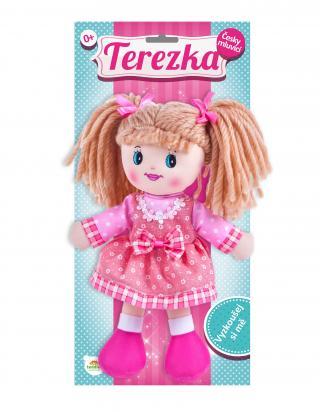 TEDDIES Panenka Terezka hadrová plyš 30 cm česky mluvící růžová