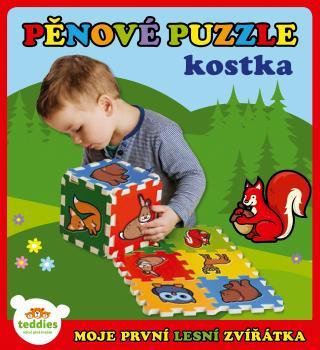 TEDDIES Pěnové puzzle Moje první lesní zvířátka 6 ks mix barev