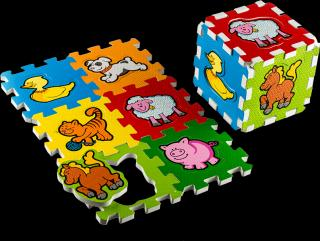 TEDDIES Pěnové puzzle Moje první zvířátka mix barev
