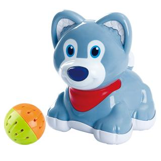 TEDDIES Pes/pejsek s míčkem 6m  modrá