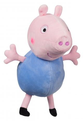 TEDDIES Prasátko Peppa postavička Tom plyš 35,5 cm modrá