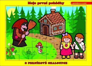 TEDDIES Puzzle deskové O Perníkové Chaloupce 24 dílků - Moje první pohádky mix barev