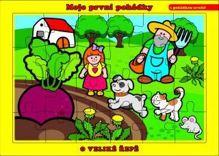 TEDDIES Puzzle deskové O Veliké Řepě 24 dílků - Moje první pohádky mix barev