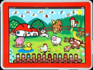 TEDDIES Tablet farma pro nejmenší - Moje první zvířátka červená